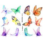 Joggles Collage Sheets - Watercolor Butterflies I [JG401040]