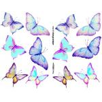 Joggles Collage Sheets - Watercolor Butterflies II [JG401041]