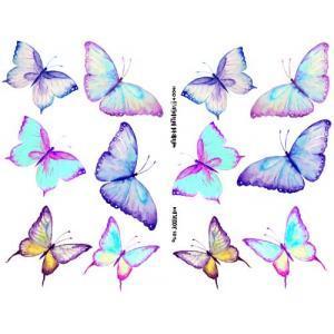 Joggles Collage Sheets - Watercolor Butterflies II [JG401041]