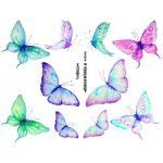 Joggles Collage Sheets - Watercolor Butterflies III [JG401042]