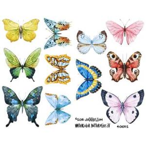 Joggles Collage Sheets - Watercolor Butterflies IV [JG401052]