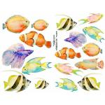 Joggles Collage Sheets - Watercolor Fish [JG401069]