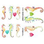 Joggles Collage Sheets - Watercolor Seahorses [JG401044]