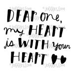 Joggles / Everyday Valentine Cling Mounted Rubber Stamp - My Heart Is With Your Heart [56846]