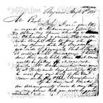 Joggles / Margaret Applin Designs Cling Mounted Rubber Stamp - Vintage Correspondence [56776]