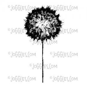 Joggles / Margaret Applin Designs Cling Mounted Rubber Stamp - Skeleton Flower #1 [56781]