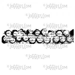 Joggles / Margaret Applin Designs Cling Mounted Rubber Stamp - Grunge Spots Border [56783]