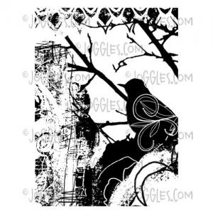 Joggles / Margaret Applin Designs Cling Mounted Rubber Stamp - Bird Collage [56788]