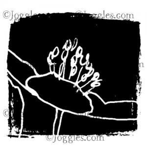 Joggles / Margaret Applin Designs Cling Mounted Rubber Stamp - Garden Party #3 [56791]