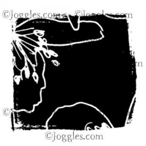 Joggles / Margaret Applin Designs Cling Mounted Rubber Stamp - Garden Party #4 [56800]