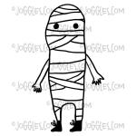 Joggles / Red Wooden Flag Cling Mounted Rubber Stamp - Mummy [56748]