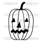 Joggles / Red Wooden Flag Cling Mounted Rubber Stamp - Pumpkin [56751]