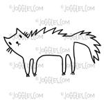 Joggles / Red Wooden Flag Cling Mounted Rubber Stamp - Scaredy Cat [56753]