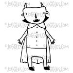 Joggles / Red Wooden Flag Cling Mounted Rubber Stamp - Vampire [56756]