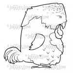 Joggles Cling Mounted Rubber Stamp - The Bird Edison [33679]