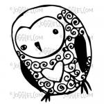 Joggles Cling Mounted Rubber Stamp - Little Owl [33669]