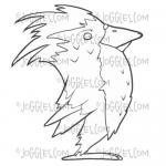 Joggles Cling Mounted Rubber Stamp - The Bird Earl [33670]