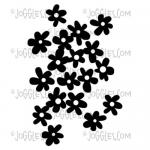 Joggles Cling Mounted Rubber Stamp - Background Noise Tutti Frutti Flowers [33672]