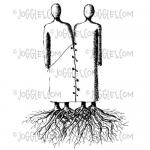Joggles Cling Mounted Rubber Stamp - Twined Couple [33676]