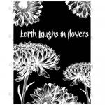 Joggles Cling Mounted Rubber Stamp - Earth Laughs In Flowers [33690]