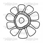 Joggles Cling Mounted Rubber Stamp - Doodle Flower #1 [56746]