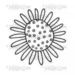 Joggles Cling Mounted Rubber Stamp - Doodle Flower #2 [56754]