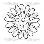 Joggles Cling Mounted Rubber Stamp - Doodle Flower #3 [56762]