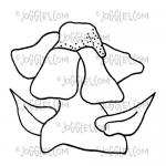 Joggles / Virginia England Cling Mounted Rubber Stamp - Funky Flower #3 [56752]