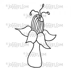 Joggles / Virginia England Cling Mounted Rubber Stamp - Funky Flower #6 [56770]