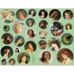 Joggles Collage Sheets - Faces in the Round [JG401017]