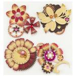 Jolee's Boutique Steampunk Flowers [50-21064]