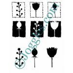 Joggles Stencil-Mask Combo - Botanicals I [10-33770]