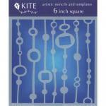 """JudiKins 6"""" x 6"""" Kite Stencil - Bead Curtain [KS 23]"""