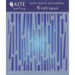 """JudiKins 6"""" x 6"""" Kite Stencil - Beatnick [KS 57]"""