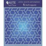 "JudiKins 6"" x 6"" Kite Stencil - Cane Weave [KS 46]"