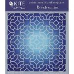 "JudiKins 6"" x 6"" Kite Stencil - Clover Trellis [KS 61]"