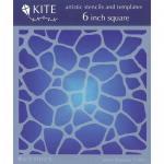 """JudiKins 6"""" x 6"""" Kite Stencil - Flagstone [KS 56]"""