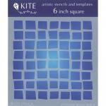 "JudiKins 6"" x 6"" Kite Stencil - Funky Squares [KS 26]"