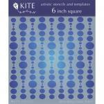 """JudiKins 6"""" x 6"""" Kite Stencil - Bubble Curtain [KS 12]"""