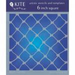 """JudiKins 6"""" x 6"""" Kite Stencil - Fish Net [KS 35]"""