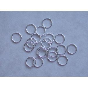 Sterling Silver Jump Ring - 7.5mm (Open/Standard) [J28/7.5]