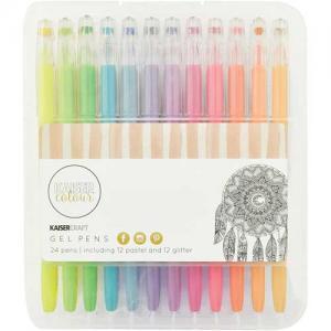 Kaisercraft Gel Pen Set of 24 - Glitter & Pastel