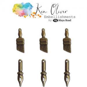 Ken Oliver Embellishments - Vintage Art Supplies