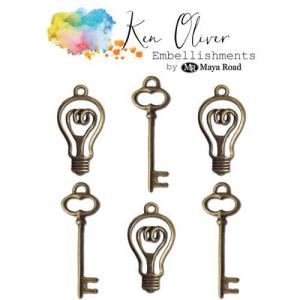 Ken Oliver Embellishments - Vintage Bulbs and Keys