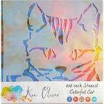 Ken Oliver Stencil - Colorful Cat