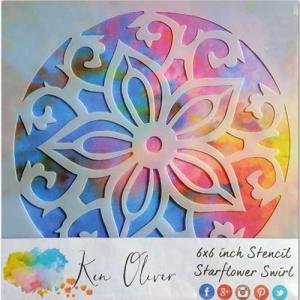 Ken Oliver Stencil - Starflower Swirl