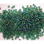 Miyuki 11/0 Seed bead - 344 Lined Green AB - ON SALE!