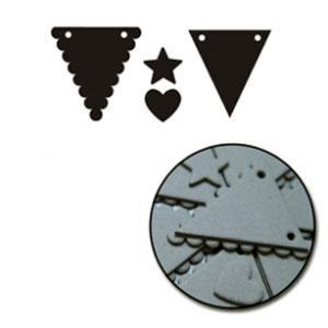 Maya Road Chipboard Set - [C1302] Mixed Scallop Mini Triangle Banner Set