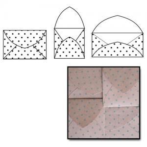 Maya Road Kraft Envelopes - [K2260] Slate Polka Dots