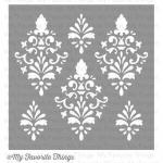 My Favortite Things Mix-Ability Stencil - Damask